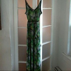 Tropical Palm Maxi Dress